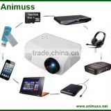 TF-card set top box projector DVD HD Players mini projector for airplay mirroring iphone ipad ipod