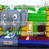Top design Elephant classical inflatable jumper and slide combo castle SP-CM037