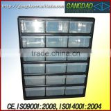 the steel cabinet with the plastic box