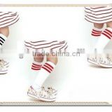 white high socks wholesale hot selling popular kids knee high socks with striped design small MOQ
