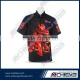 Customized racing team pit crew mechanic staff uniform shirts