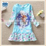 (LD0522) 2-8y frozen elsa princess dress child elsa anna costume frozen cartoon print girl dresses