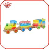 EN71 Kids Playground Block Wooden Toy Train