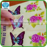 clear vinyl sticker printing colorful decal sticker adhesive butterfly die cut sticker