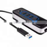 USB 3.0 to 1000 Gigabit Ethernet LAN Wired Network Adapter USB 3.0 to RJ45 With 3 Port USB3.0 Hub