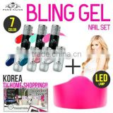[Paris Hilton Bling Gel]/7Color Nail Gel Polish/Motion Sensor LED Lamp/Bling Color Nail Gel Polish