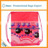 Nylon polyester drawstring dust proof bag custom logo printed backpack drawstring