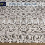 2014 high quality white cotton embroidery lace fabric with holes for party dress