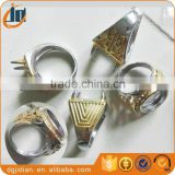 Gold Plating Mens Titanium Ring Without Stone