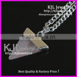 KJL-A0396 Triangle pink Quartz Gem Stone Healing Chakra Pendant fit Necklace, Charm agate stone pendant In Silver bail