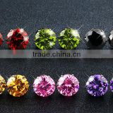316L Stainless Steel Colorful Zircon Earrings for Birthday Gift AAA Zircon Fashion Jewelry