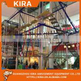 New Products Color woods colorful ropes net world kids indoor play equipment, rainbow tree