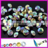 loose crystal ab chatons golden pointed foil back color rhinestones diamond beads for nail art
