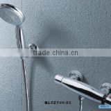 Thermostatic shower rail
