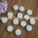 High Quality Ivory 26mm Craft Flatback Pearl Flower Half Pearl For phone decoration,Embellishment wedding and garments