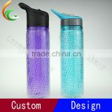 550ML Colorful Bubble Gel Straw Tumbler