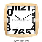 12 inch fashion wood quartz analog type clock contemporary style (12W61NA-199)