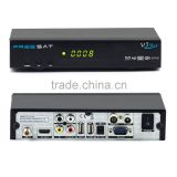New Arrival freesat v7 max satellite receiver DVB-S2 1080P HD tv decoder support ccccam auto roll powervu usb wifi youporn