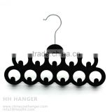 The HEAD black flocked belt hanger 11ps hooks,velvet belt hanger