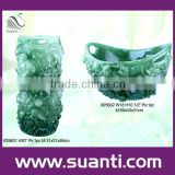 Decorative jade resin vase