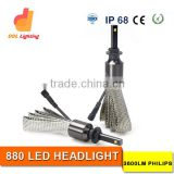 Auto parts super bright 880 led headlight bulbs for cars H4 H7 H1 H11 9005 9006 wholesale tractor headlight