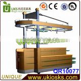 Cutsom made Modern easy operation retail store display&retail store wood display stand
