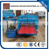 Customized Botou manufacture stud and track galvanized steel glazed tile roofing sheet roll forming machine