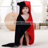 Cute Black and Red Flannel Gemini Baby Hoodie Blanket