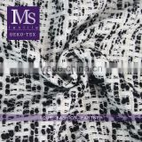2016 M.seven Black/white thick tweed fabric, wool blend polyester fabric for casual and formal wear