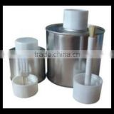 screw top empty metal tin cans with brush for pvc solvent cement