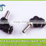 6-6MM Elbow joint with slip lock plug. Pneumatic fittings. Plastic Connecting Tube Fittings