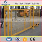 beautiful pvc coated easily assembledyard retractable iron mesh fence gate