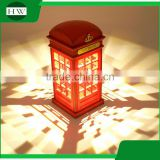plastic antique telephone booth eye protection battery operated usb rechargeable led study reading desk table touch night light