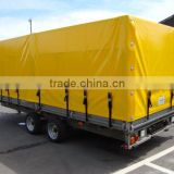 yellow pvc coated tarpaulin for container side curtain