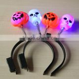 Halloween pumpkin flash headband/Led Flashing skeleton hair hoop /Led Flashing Party Item