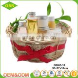 China custom decorative fancy Christmas empty wicker wholesale spa gift baskets
