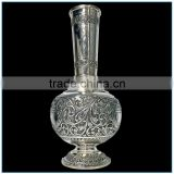 Elegant Antique India Silver Brass Vase Flower Pot