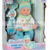novelty walking and crawling ABS adorable plastic baby dolls with EN71