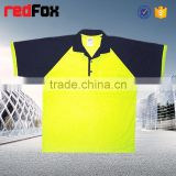 fluorescent color t-shirt short sleeve 100% polyster safety t-shirt mesh t-shirt polo vest