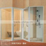 luxurious sauna shower room