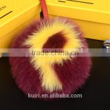 2016 New Genuine Fox Fur Ball Keychain Bag Pendant Letter Real Fur Oversized Fur Ball Ornaments Hair Ornaments Hanging Ball