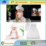 Baby Hot Cook Costume Photos Photography Newborn Infant Hat Apron White