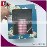 custom your own printing paper mug gift box mug packaging box with pvc window