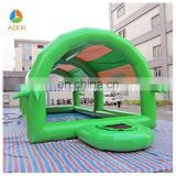 2015 new design green inflatable pool with cover, small inflatable pool toys, inflatable swimming pool with roof