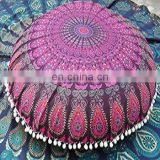 Large Mandala Tapestry Floor Pillows Cotton Round Cushion Cover Ottoman Decorative Poufs