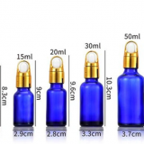 Cosmetic Manufacturer Essential Oil Vegetal Oil Clear Glass Dropper Bottle 10 Ml 20 Ml 30 Ml with Black Gold Silver Glass Pipette