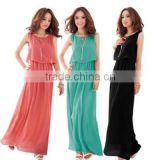 Women Lace Crochet Sleeveless Evening Party Cocktail Gown Formal Long Maxi Dress