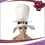 adult fashion big white party bucket hat