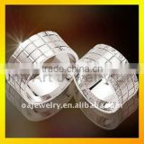 small order fashion design lovers silver square rings sets with high quality paypal acceptable