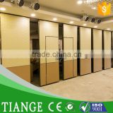 Decorative folding door partition for banquet hall